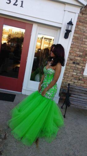 Prom dress lime green