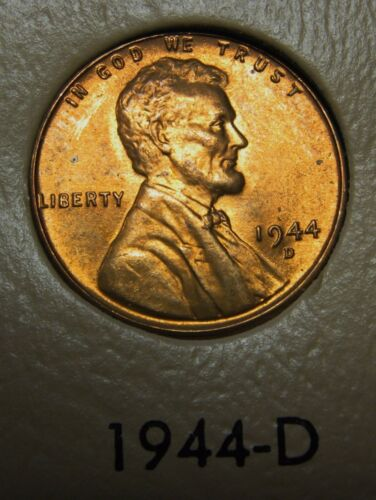 1944-D Lincoln Wheat Cent in the CH BU Range Nice Coins DUTCH AUCTION