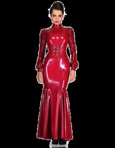 latex catsuit rubber gummi onepiece corset dress long
