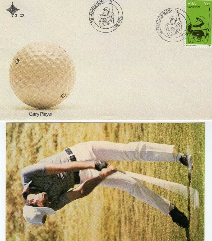 Commemorative Stamp & Envelope Set - Gary Player 1976