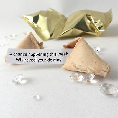 Wedding Fortune Cookie: Tradizionale Fortune-scatola Da 30-oro Wrapper-
