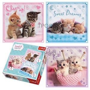 Trefl-3-In-1-20-36-50-Piece-Sweet-Lovely-Cuddly-Kittens-Jigsaw-Puzzle-NEW
