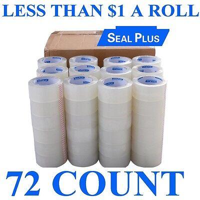 18 Rolls Packaging Box Carton Sealing Tape 2x110 Clear