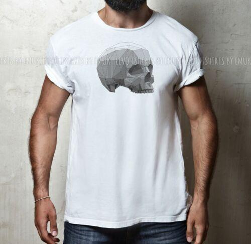 GEOMETRIC SKULL POLYGON SKULLS GEEK NERD 100/% Cotton Mens /& Womens T-shirt Tee