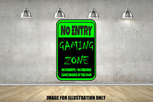 Gamer Keine Eingangstur Schild Kinderzimmer Wandsticker Fort Schlafzimmer Nite Gaming Decal Ebay