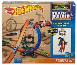 Hot-Wheels-Track-Builder-Starter-Kit-Play-Set-NEW