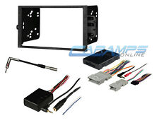 DOUBLE DIN CAR STEREO RADIO DASH KIT W/ BOSE & ONSTAR INTERFACE WIRING HARNESS