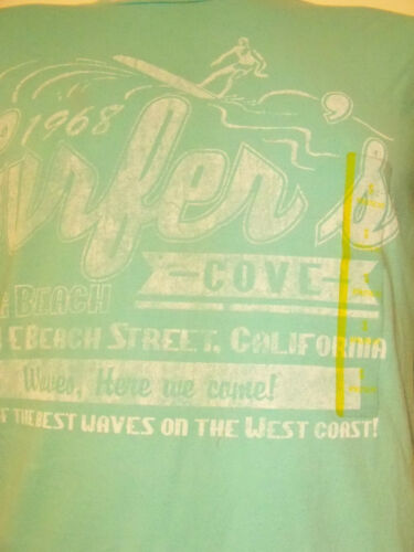Long Beach Surfer/'s Cove Adult T Shirt Blue NEW NWT