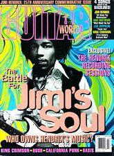 Guitar World Magazine July 1995 Jimi Hendrix Battle, Bush, Oasis, King Crimson