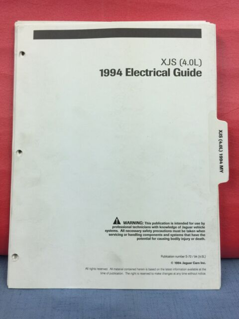 Original 1994 Jaguar Xjs Wiring Diagrams Electrical Guide