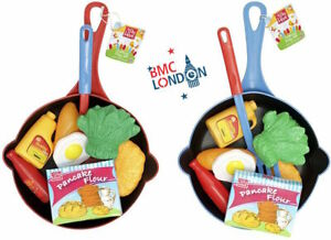 Childrens-Kids-Toy-Pans-Kitchen-Play-Food-Set-Village-Cooking-Play-Food-Set