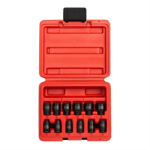 "12 Piece 1//4/"" Drive Metric Magnetic Impact Socket Set SUN1822 Brand New!"