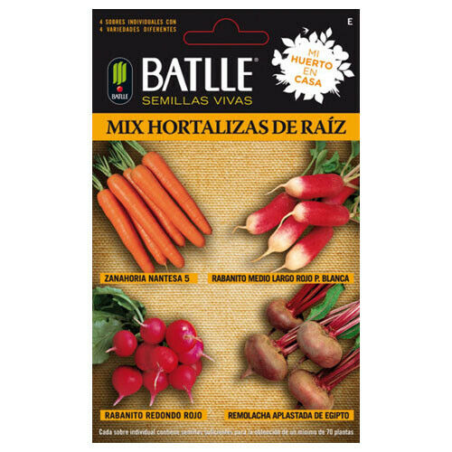 Semillas de Batlle Ideal para Huerto Urbano 5,367g - Mix Hortalizas Raíz