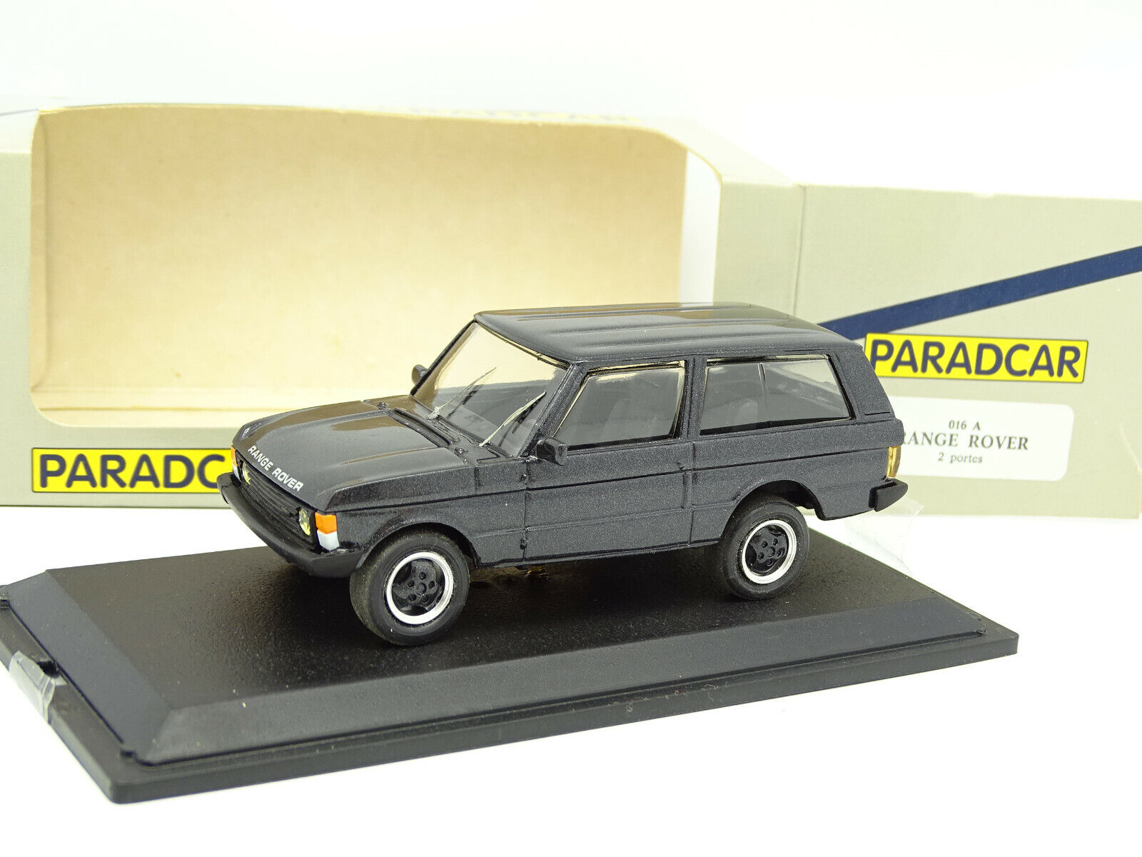 Paradcar 1 43 - range rover 2 door 1990 black