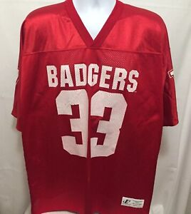Vintage-90s-Logo-Athletic-Wisconsin-Badgers-Ron-Dayne-Football-Jersey-XL-Flawed