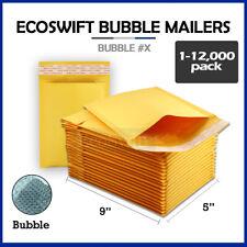 1 12000 X 5x9 Ecoswift Kraft Bubble Mailers Padded Shipping Envelopes 5 X 9