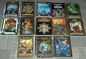 Lot de 13 livres de jeu, 6 machines de guerre 2 hordes 5 warhammer