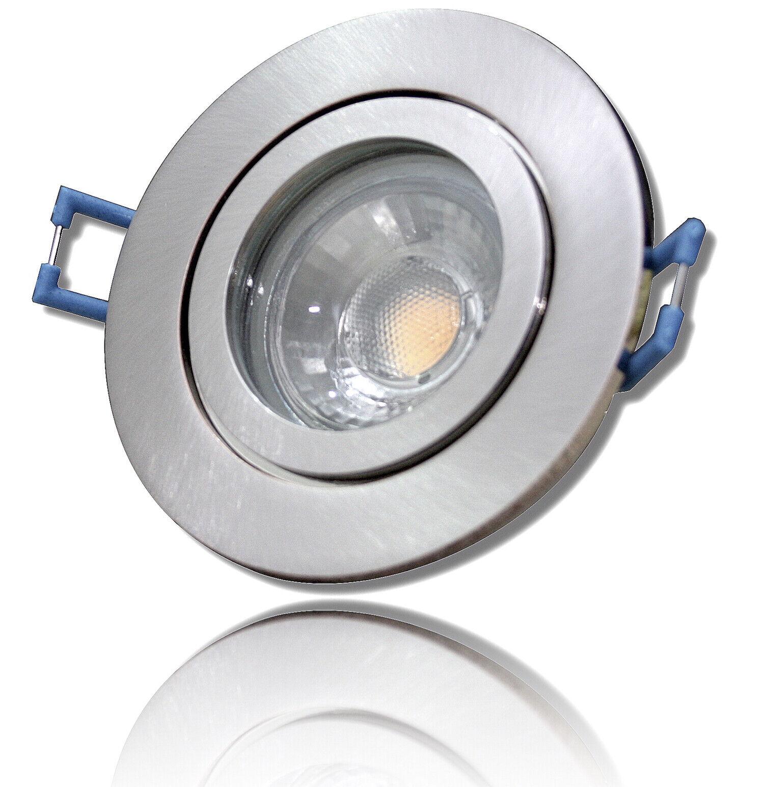 1 -  10er Sets   3Watt   LED Bad Einbaustrahler Marina   Silber   220V   IP44