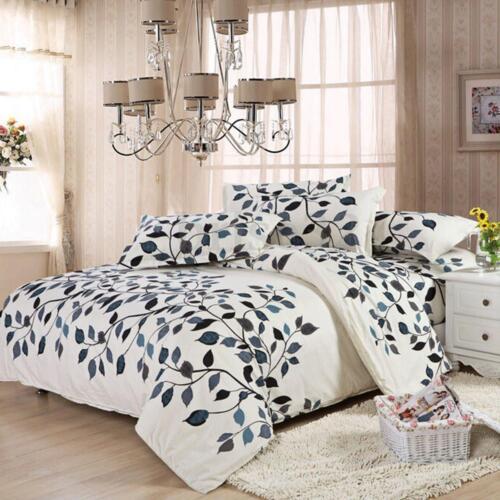 Leaf  Vine Single King Queen Duvet Cover Pillow Case Quilt Cover Bedding Set