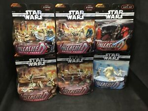 Star Wars Battle Packs Unleashed - 2006 Lot of 6 BRAND NEW Hasbro RARE NIB