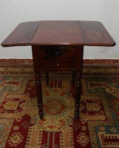 Antico tavolo a bandelle Inghilterra fine '800 tavolo da lavoro