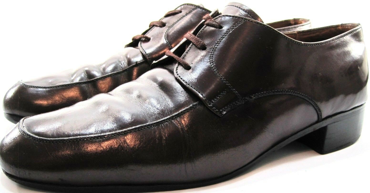 Manhattan Uomo Leather Oxford Shoes Size Style 10 Euro 43 Brown Style Size 6235 Leather 8e5651