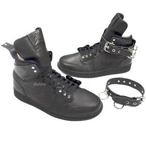newest collection 7ce34 38bcb Details about NWT Nike Comme des Garcons Air Jordan 1 Hi Strap SP-C CDG  Black 9 SS19 AUTHENTIC