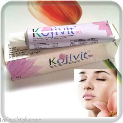 Kojivit Gel KOJIC ACID, MULBERRY, ARBUTIN GEL Acne Skin Whitening 15gm Blemish