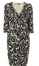 BNWT Phase Eight /8 Black & Stone Lexi Leaf Knitted Dress Size 16