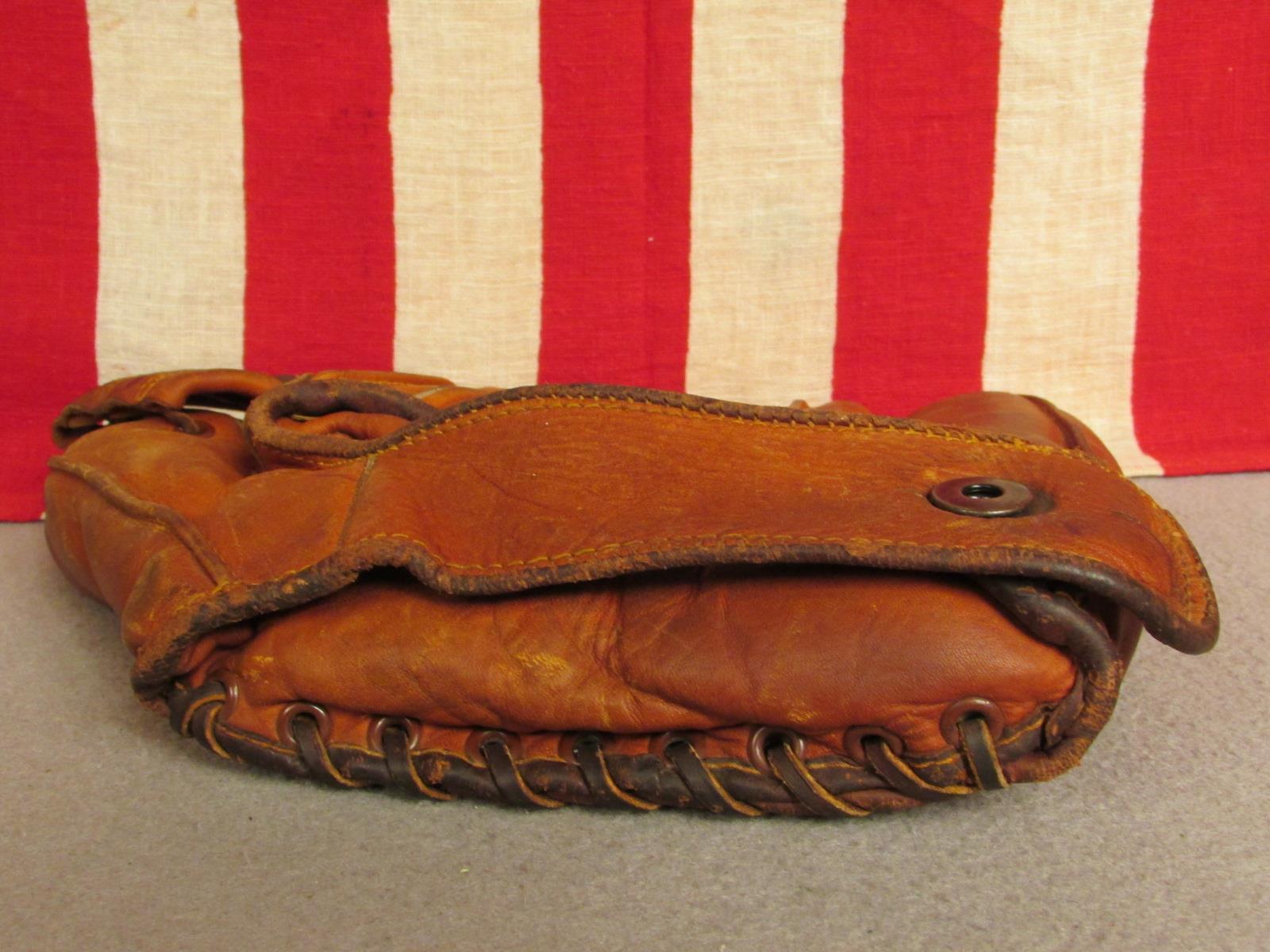 Vintage 1940s Jahre Tru Stanky Test Leder Baseball Handschuh Eddie Stanky Tru Modell Lefty b6d09f