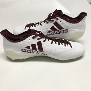 size 40 3be3d 5c5c7 Details about Adidas Adizero 5-Star 6.0 Men s Size 15 Football Cleat White Maroon  BW1084 NEW
