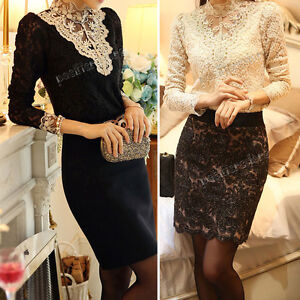 Fashion-Women-Sexy-Casual-Long-Sleeve-Shirt-Lace-Blouse-Loose-Cotton-Top-T-Shirt