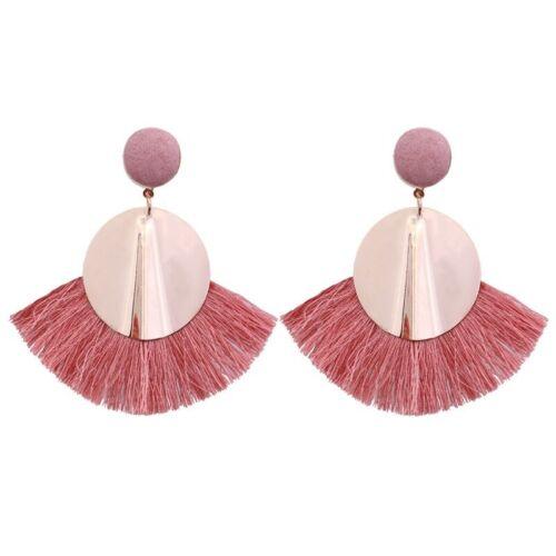 Long Fashion Women Tassel Bohemian Dangle Boho Earrings Vintage Earrings Fringe