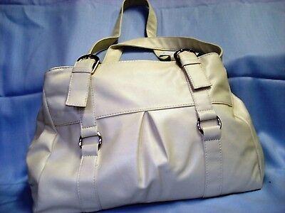 Große Handtasche/Shopper,beige,36x28x8cm,3 Innenfächer