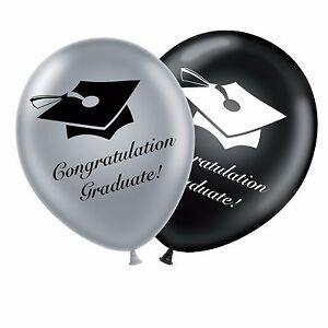 Graduacion-12-034-Set-Negro-Plata-Globos-de-Latex-Original-Felicidades-Graduado