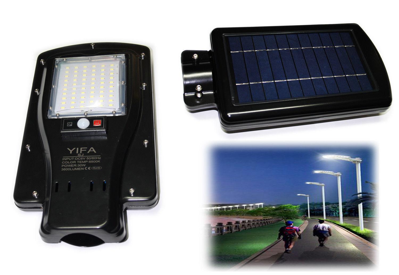 Lampione stradale led w pannello fotovoltaico energia solare