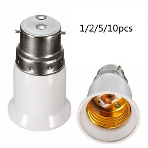 Bayonet-BC-B22-To-ES-E27-Screw-Light-Bulb-Lamp-Adaptor-Fitting-Converter-Holder