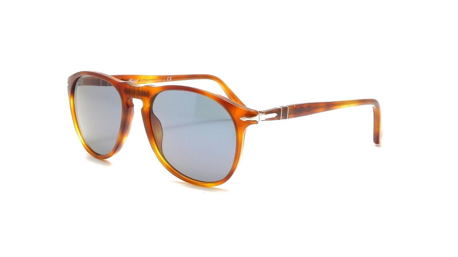 146060d9fc4f Persol Sunglasses PO 9649 96/56 Authentic Havana Terra Di Siena Blue ...