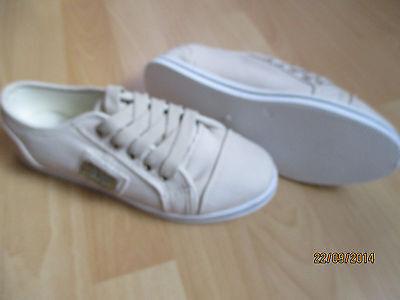beigefarbene Mädchen-Sneaker Gr. 37