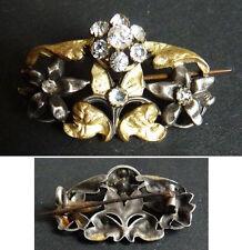 Broche avec strass ART NOUVEAU vers 1900 Modern Style silver brooch