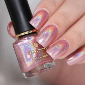 6ml-BORN-PRETTY-Holographic-Nail-Polish-Pink-Holo-Super-Shiny-Nail-Art-Varnish