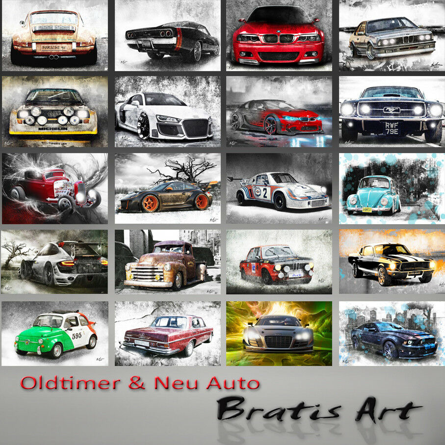 PORSCHE 911 Carrera Carrera Carrera Oldtimer Auto motorizzata Immagini Arte Tela Immagine Parete 894a e6b47d