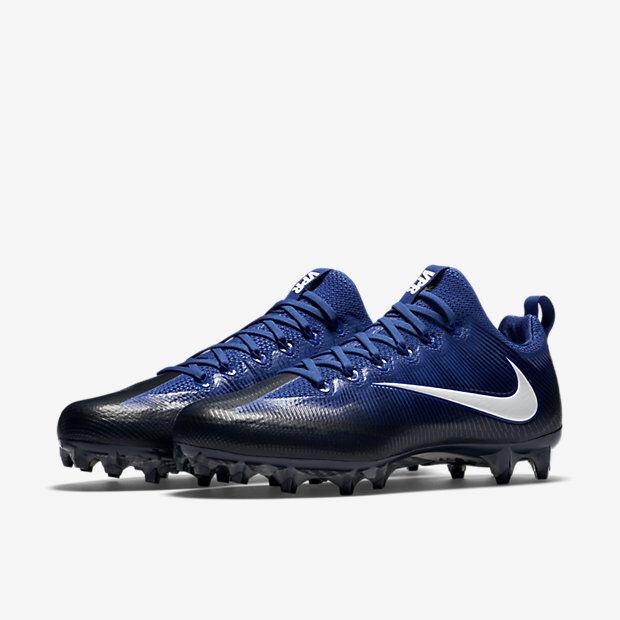 NIKE Mens 14 Vapor Untouchable Pro PF Football Cleats 839924-014 blueee