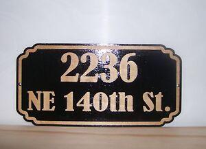 Personalized STREET HOUSE ADDRESS NUMBER SIGN.BIRCH.Las<wbr/>er ENGRAVED.GIFT.