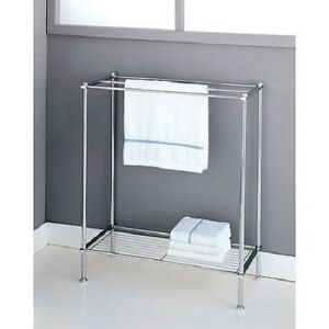 Image Is Loading Bathroom Rack Towel Organizer Unit Free Stand Bath