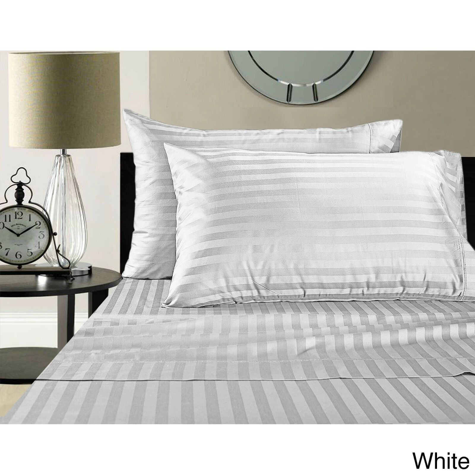 1000 Thread Count QUEEN bianca STRIPE Sheet Set Egyptian Cotton BRAND NEW