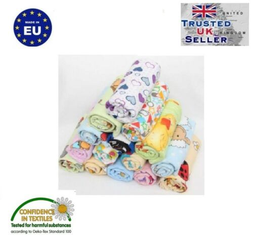 1-12 PCS COLORFUL BABY REUSABLE WIPES NAPPY BIBS DIAPER 70x80 MUSLIN FLANNEL