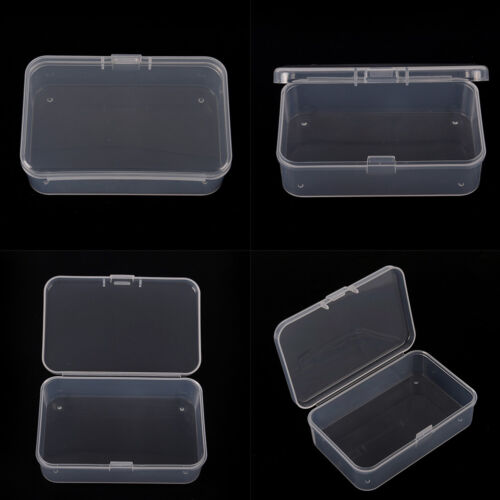 Clear Plastic Transparent With Lid Storage Box Collection Container Case TDCA