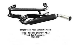 Single-Glass-Pack-Exhaust-Sytem-Type-1-Ghia-amp-Type-2