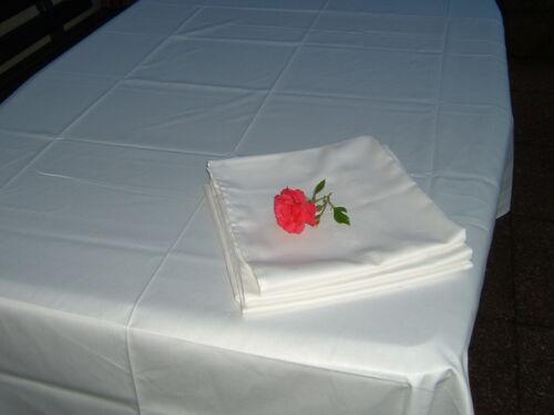 Tischdecke  Tafeltuch 180x300 cm Tablecloth   Baumwolle weiß glatt        NEU